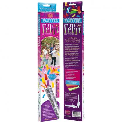 Mardi Gras Flutter Fetti Prismatic Tube w/Paper Confetti