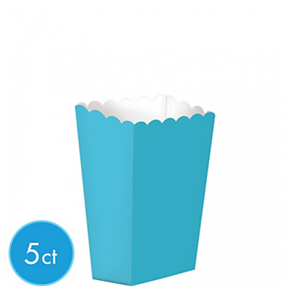 "5 1/4"" x 3 3/4"" Paper Popcorn Boxes CARIBBEAN BLUE (Small)"