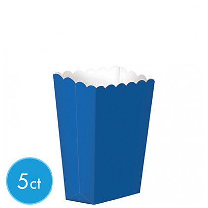 "5 1/4"" x 3 3/4"" Paper Popcorn Boxes BRIGHT ROYAL BLUE (Small)"