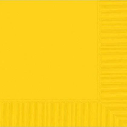 Yellow Sunshine 2-Ply Luncheon Napkins - Paper