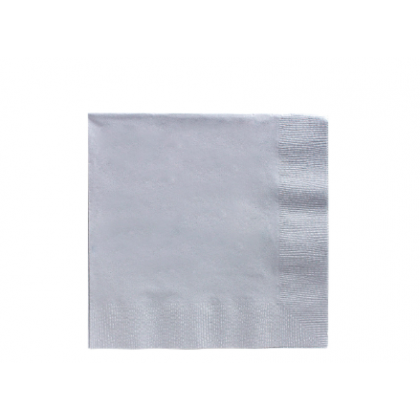 Silver 2-Ply Luncheon Napkins - Paper