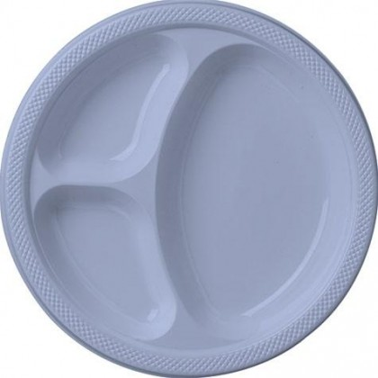 """Pastel Blue Festive Occasion® Plastic Tableware Divded Plate, 10 1/4"""""""