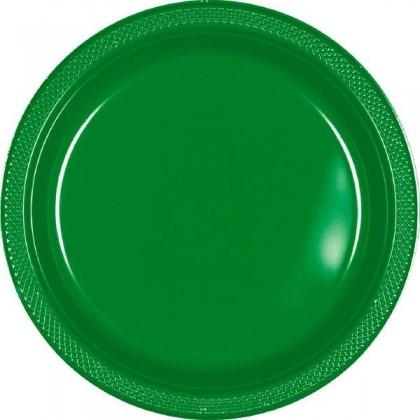 "Festive Green Festive Occasion® Plastic Tableware Plate, 7"""