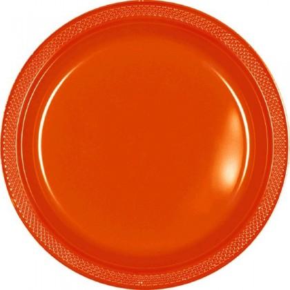 "Orange Peel Festive Occasion® Plastic Tableware Plate, 7"""