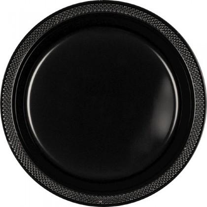 "Jet Black Festive Occasion® Plastic Tableware Plate, 7"""