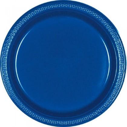"Bright Royal Blue Festive Occasion® Plastic Tableware Plate, 7"""