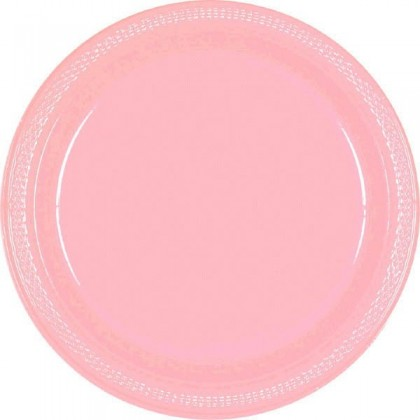 """New Pink Festive Occasion® Plastic Tableware Plate, 7"""""""