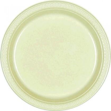 "Leaf Green Festive Occasion® Plastic Tableware Plate, 7"""