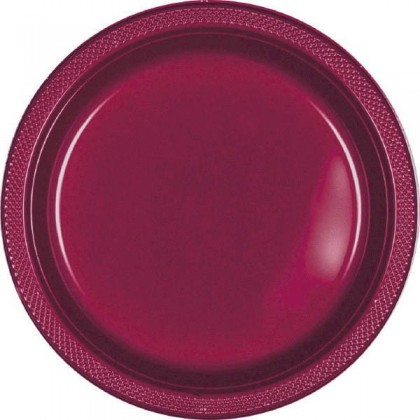 "Berry Festive Occasion® Plastic Tableware Plate, 7"""