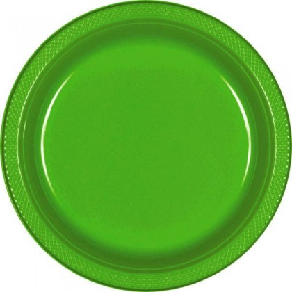 "Kiwi Festive Occasion® Plastic Tableware Plate, 7"""