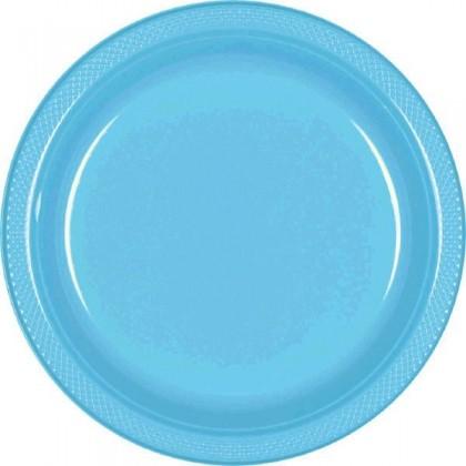 "Carbbean Blue Festive Occasion® Plastic Tableware Plate, 7"""