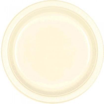 """Vanilla Creme Festive Occasion® Plastic Tableware Plate, 7"""""""