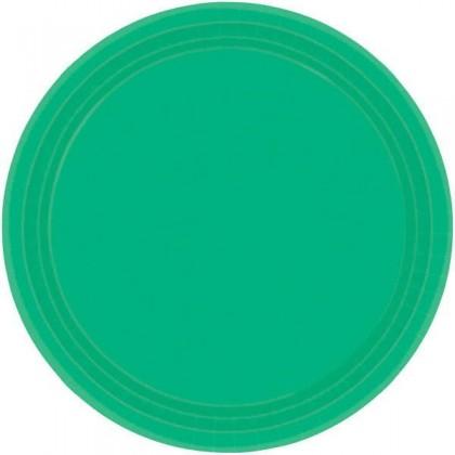 "Festive Green Festive Occasion® Plastic Tableware Plate, 9"""