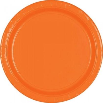"Orange Peel Festive Occasion® Plastic Tableware Plate, 9"""