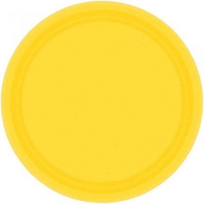 "Yellow Sunshine Festive Occasion® Plastic Tableware Plate, 9"""