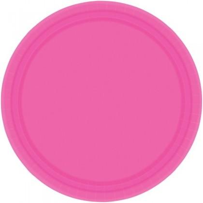 "Bright Pink Festive Occasion® Plastic Tableware Plate, 9"""