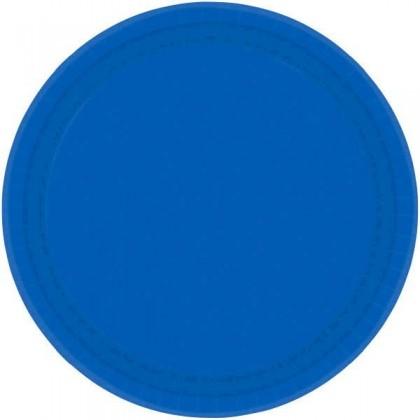 "Bright Royal Blue Festive Occasion® Plastic Tableware Plate, 9"""