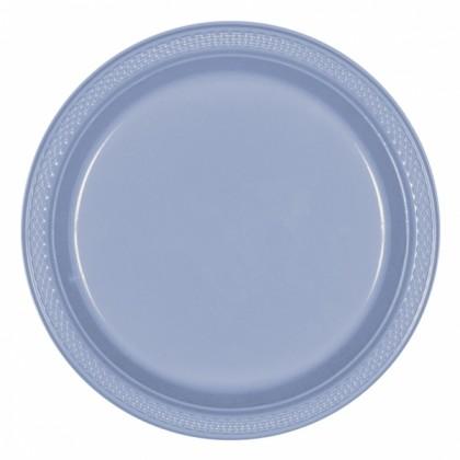 "Pastel Blue Festive Occasion® Plastic Tableware Plate, 9"""