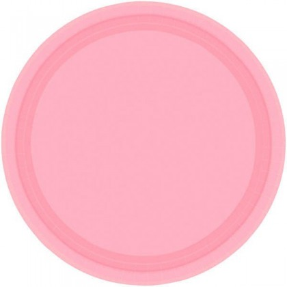 """New Pink Festive Occasion® Plastic Tableware Plate, 9"""""""