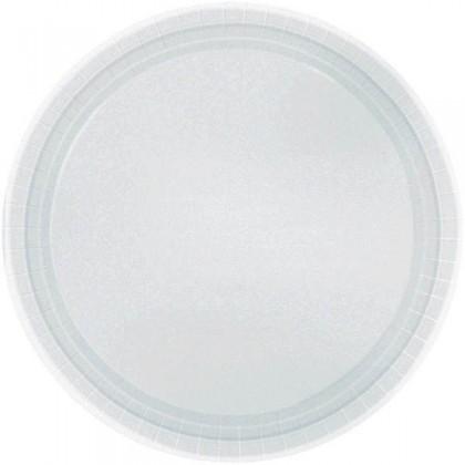 """Silver Festive Occasion® Plastic Tableware Plate, 9"""""""