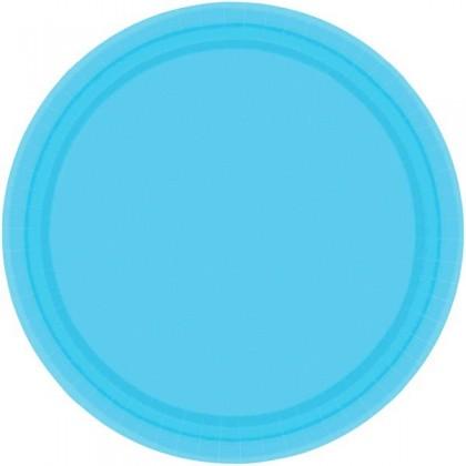 "Caribbean Blue Festive Occasion® Plastic Tableware Plate, 9"""