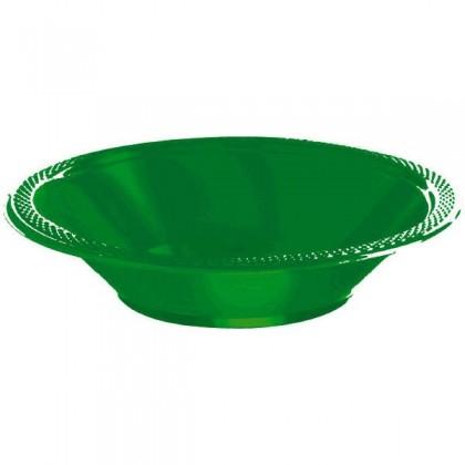 Festive Green Festive Occasion® Plastic Tableware Bowls, 12 oz.