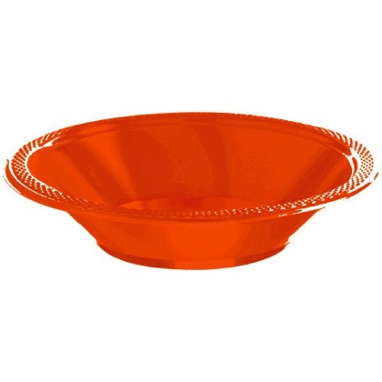 Orange Peel Festive Occasion® Plastic Tableware Bowls, 12 oz.
