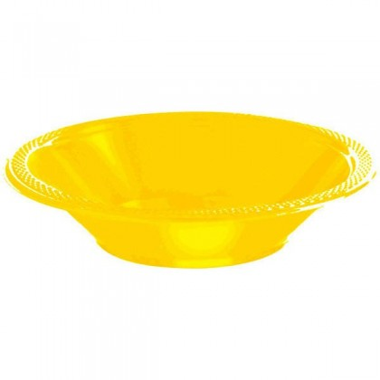 Yellow Sunshine Festive Occasion® Plastic Tableware Bowls, 12 oz.