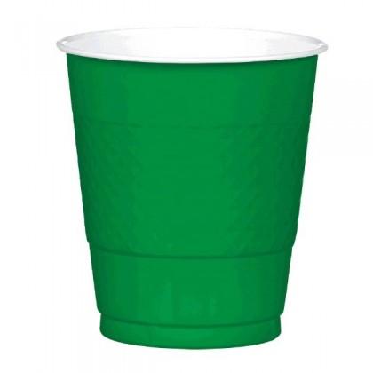 Festive Green Festive Occasion® Plastic Tableware Cups, 12oz
