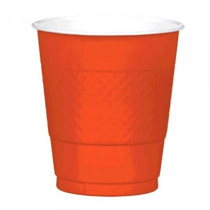Orange Peel Festive Occasion® Plastic Tableware Cups, 12oz