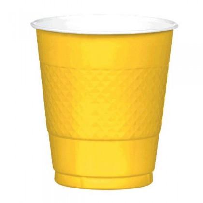 Yellow Sunshine Festive Occasion® Plastic Tableware Cups, 12oz
