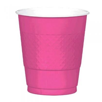 Bright Pink Festive Occasion® Plastic Tableware Cups, 12oz