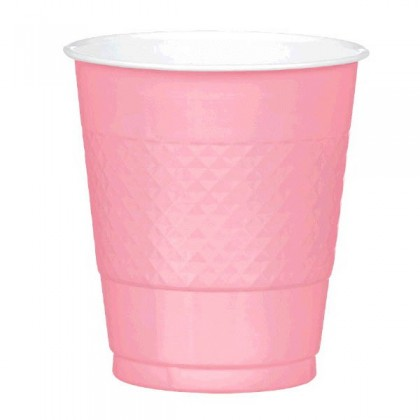 New Pink Festive Occasion® Plastic Tableware Cups, 12oz
