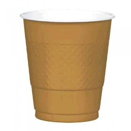 Gold Festive Occasion® Plastic Tableware Cups, 12oz