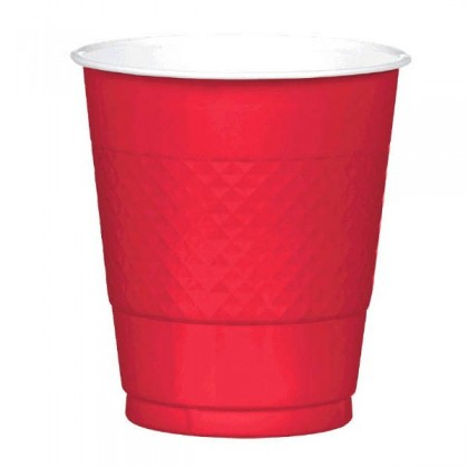Apple Red Festive Occasion® Plastic Tableware Cups, 12oz