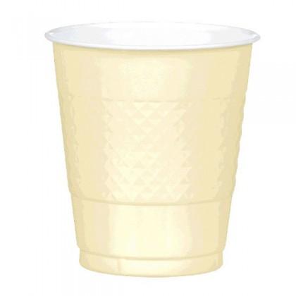 Vanilla Creme Festive Occasion® Plastic Tableware Cups, 12oz