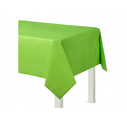 "54"" x 108"" Plastic Solid Rectangular TableCover - Kiwi"