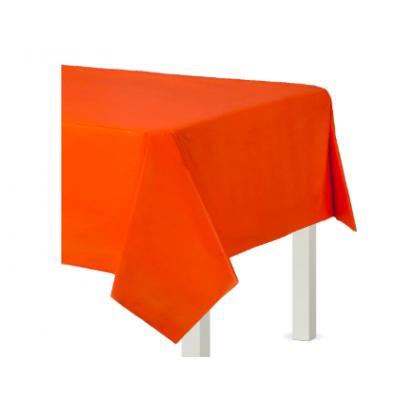 """54"""" x 108"""" Plastic Solid Rectangular TC - Orange Peel"""