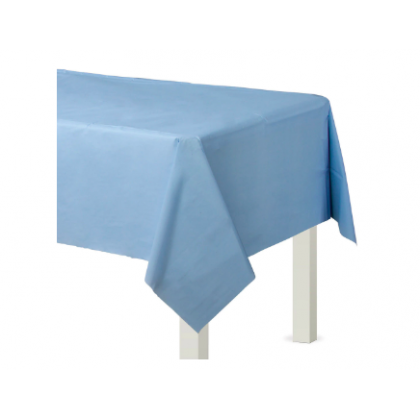 "54"" x 108"" Plastic Solid Rectangular TableCover - Pastel Blue"