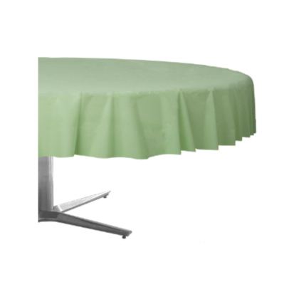 "84"" Plastic Solid Round TableCover - Leaf Green"