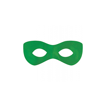 "2 7/8"" x 8 1/4"" Superhero Masks Green"