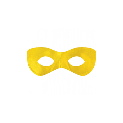 "2 7/8"" x 8 1/4"" Superhero Masks Yellow"