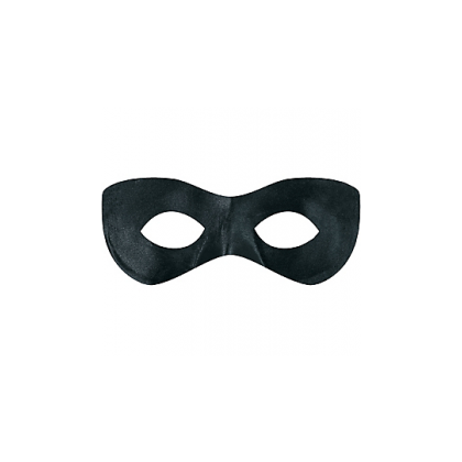 "2 7/8"" x 8 1/4"" Superhero Masks Black"