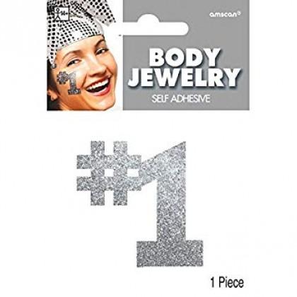 """5"""" x 3 1/2"""" Body Jewelry Silver"""