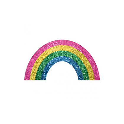 """5"""" x 3 1/2"""" Body Jewelry - Rainbow"""