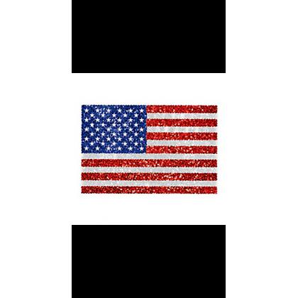 """5"""" x 3 1/2"""" Body Jewelry American Flag - R/W/B"""