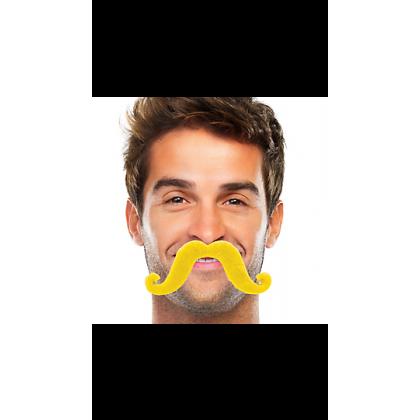 """2 2/3"""" x 5 1/2"""" Moustaches Yellow"""