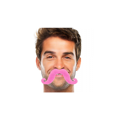 """2 2/3"""" x 5 1/2"""" Moustaches Pink"""