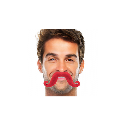 """2 2/3"""" x 5 1/2"""" Moustaches Red"""