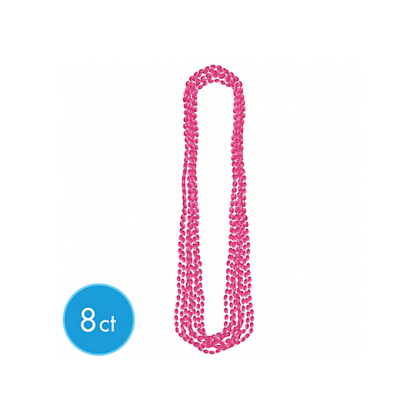 "30"" Metallic Necklaces Pink"